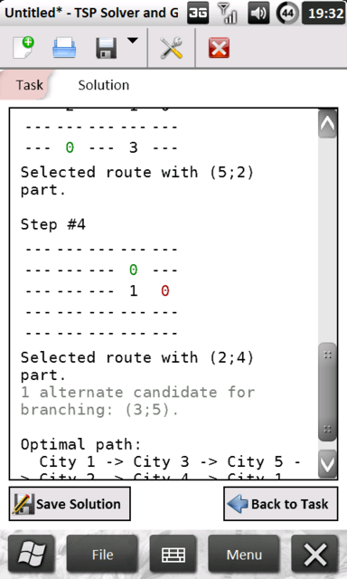 Solution Tab (Mobile Version), v0.1 beta 1