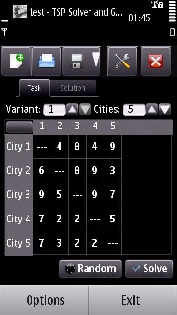 Task Tab (Symbian^3), v0.1 beta 1
